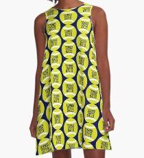 Lustiges Tennis nimmt Bälle A-Linien Kleid