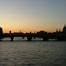 Sunset Over London by Lisa Williams
