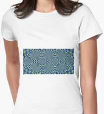 Optical Illusion, visual illusion, #Optical, #Illusion, #visual, #OpticalIllusion, #visualillusion Women's Fitted T-Shirt