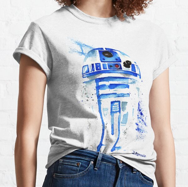 R2 droid Watercolor Classic T-Shirt