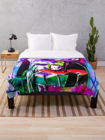 BAANTAL / Pollinate / Evolution #7 Throw Blanket