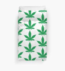 Weed cannabis leaf Duvet Cover