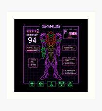 Sammy Stats Art Print