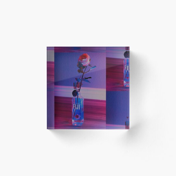 VaporWave rose Acrylic Block