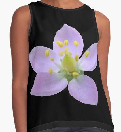 wunderschöne, violette Blüte, Blume, Natur Kontrast Top