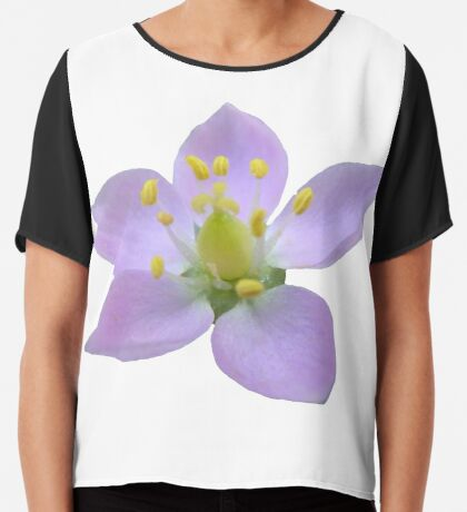 wunderschöne, violette Blüte, Blume, Natur Chiffontop für Frauen