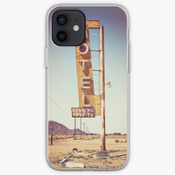 Motel Sign on the Route 66 iPhone Soft Case