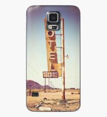 Motel Sign on the Route 66 Case/Skin for Samsung Galaxy