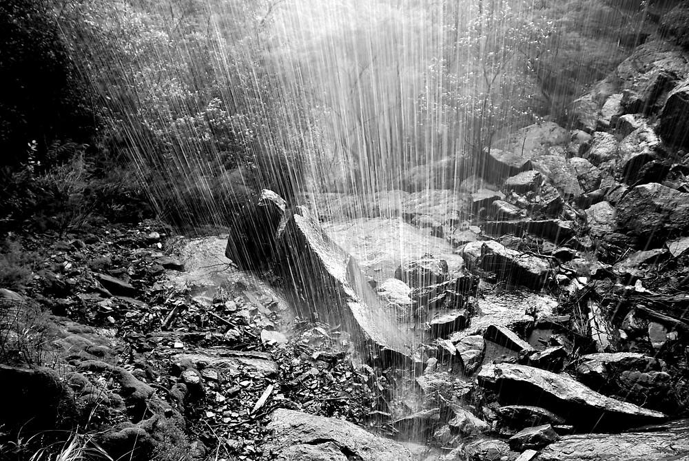 Black and White Waterfall by Joshdbaker