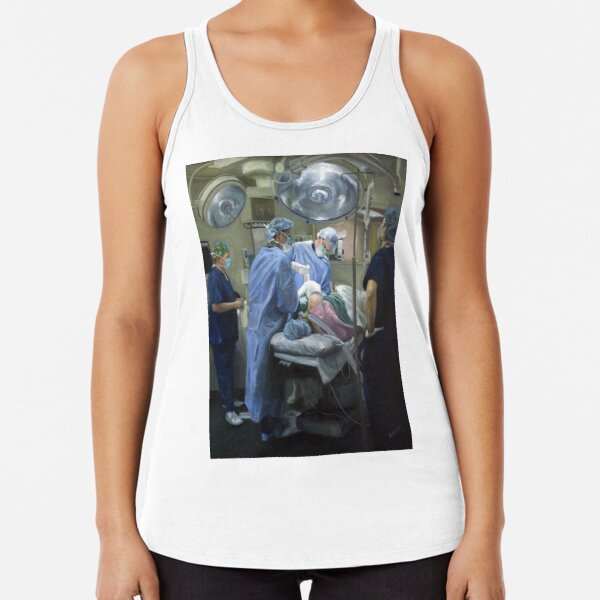 Its A Wrap - Original painting oil on canvas by Avril Thomas Racerback Tank Top