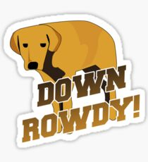 Down Rowdy the Dog Sticker