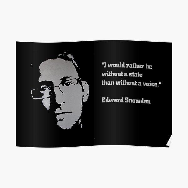 Edward SNOWDEN - voice QUOTE Poster
