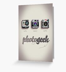 Photogeek Greeting Card