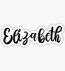 Elizabeth Name Sticker