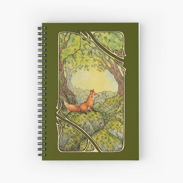 Red fox wanderer Spiral Notebook