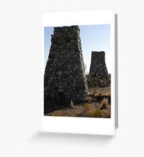 Old Hotel Fireplaces, Llano Greeting Card