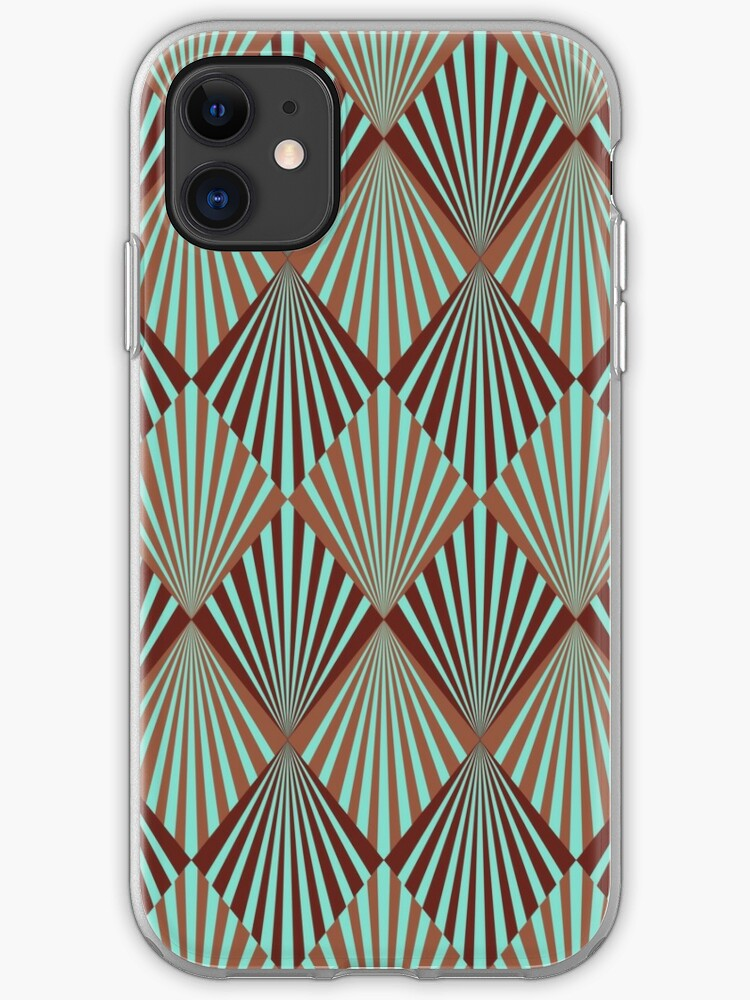 Glamorous Twenties Art Deco Pastel Pattern iPhone 11 case