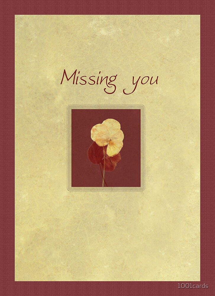 prunetti (missing you card) by 1001cards