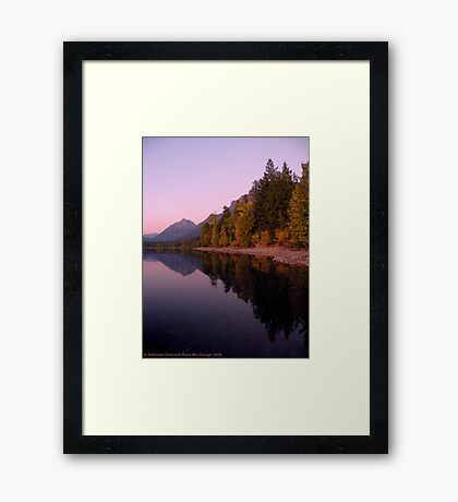 Lake MacDonald - Glacier National Park Framed Print