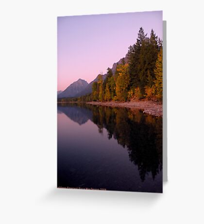 Lake MacDonald - Glacier National Park Greeting Card