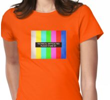 Technical Difficulties TV Test Card  Womens Fitted T-Shirt