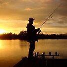 Sunset Lake by Lorraine cavanagh