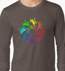 Color: Monkey Rainbow Pinwheel Long Sleeve T-Shirt