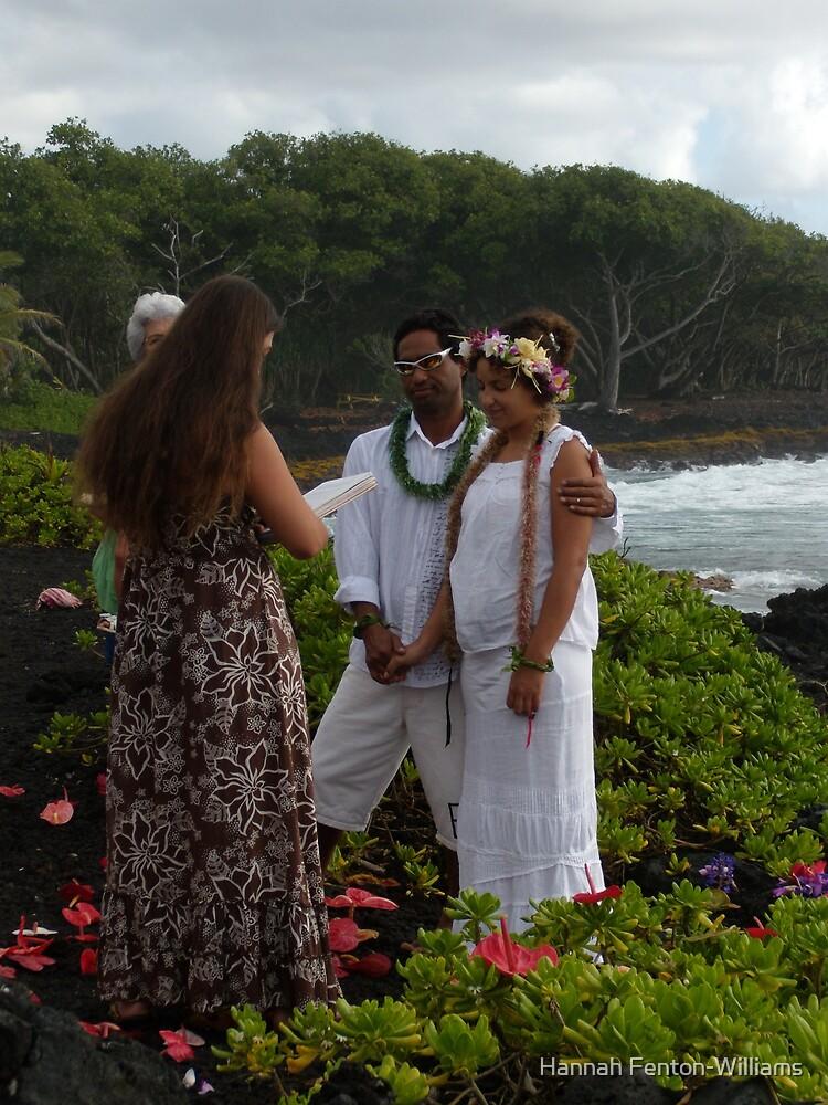 Beach wedding by Hannah Fenton williams