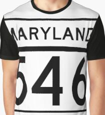 Maryland Route MD 546 | United States Highway Shield Sign Sticker Graphic T-Shirt