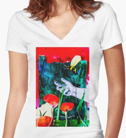 BAANTAL / Pollinate / Evolution #8 Fitted V-Neck T-Shirt
