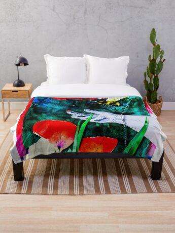 BAANTAL / Pollinate / Evolution #8 Throw Blanket