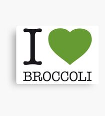 I ♥ BROCCOLI Canvas Print