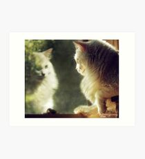 When Will My Reflection Show... Art Print