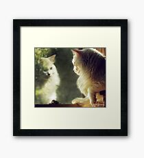 When Will My Reflection Show... Framed Print
