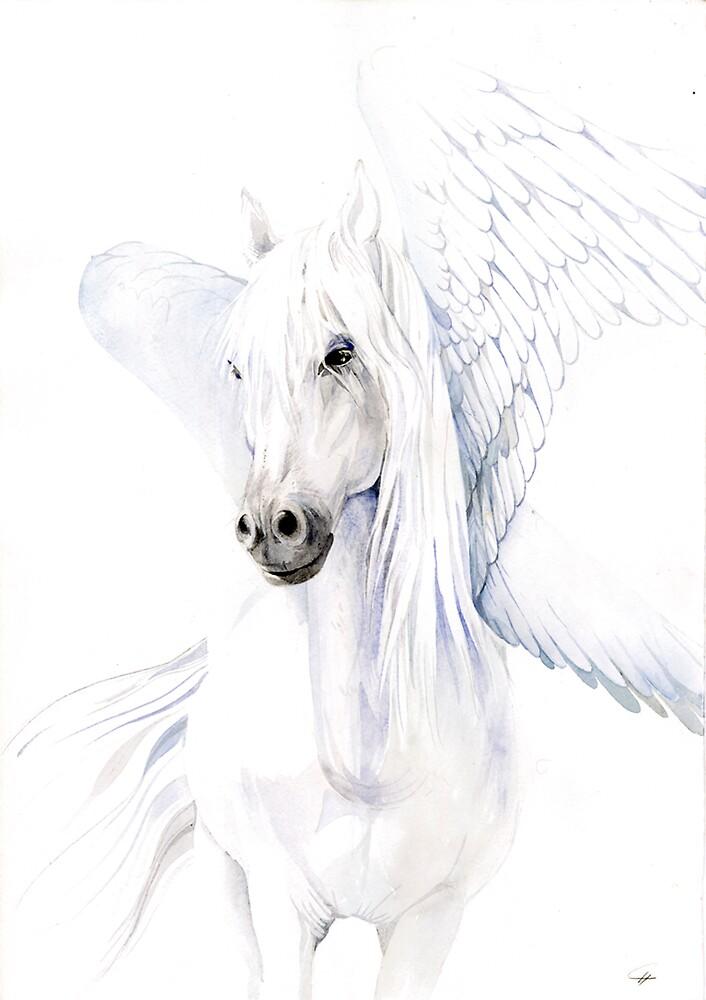 pegasus white female by armornavy