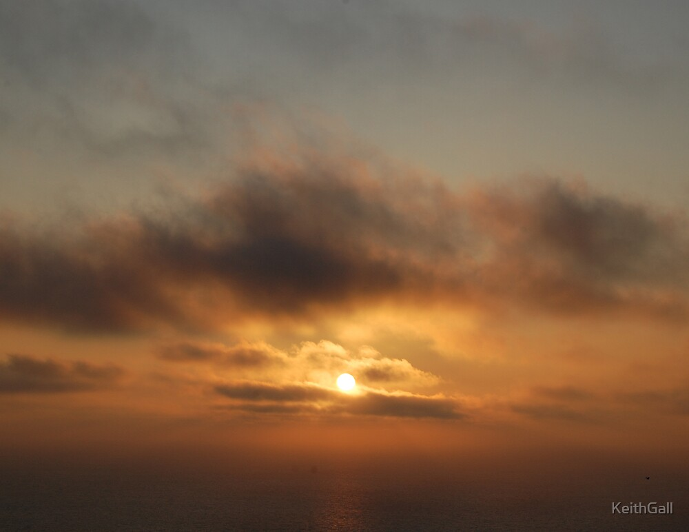 Sunset over Palos Verdes CA by KeithGall