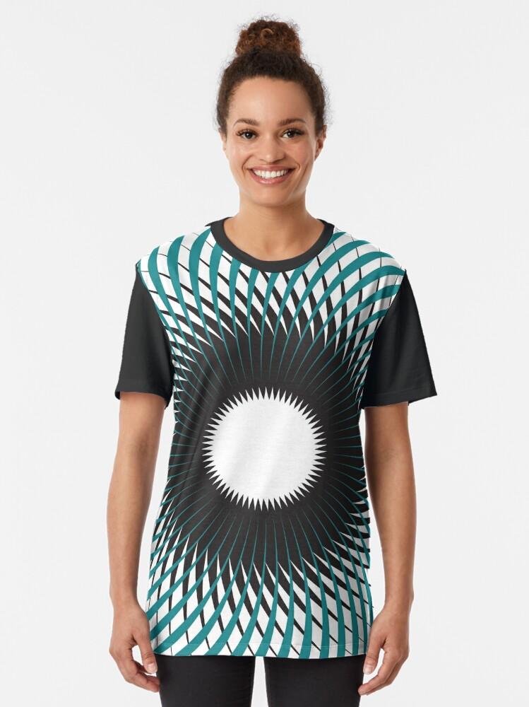 Vista alternativa de Camiseta gráfica NAUTILUS (AQUA/BLACK)