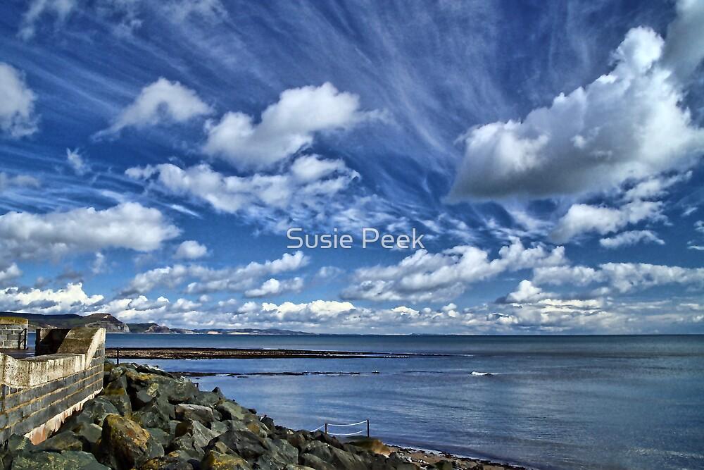 Big Sky Afternoon ~ Lyme Regis by Susie Peek