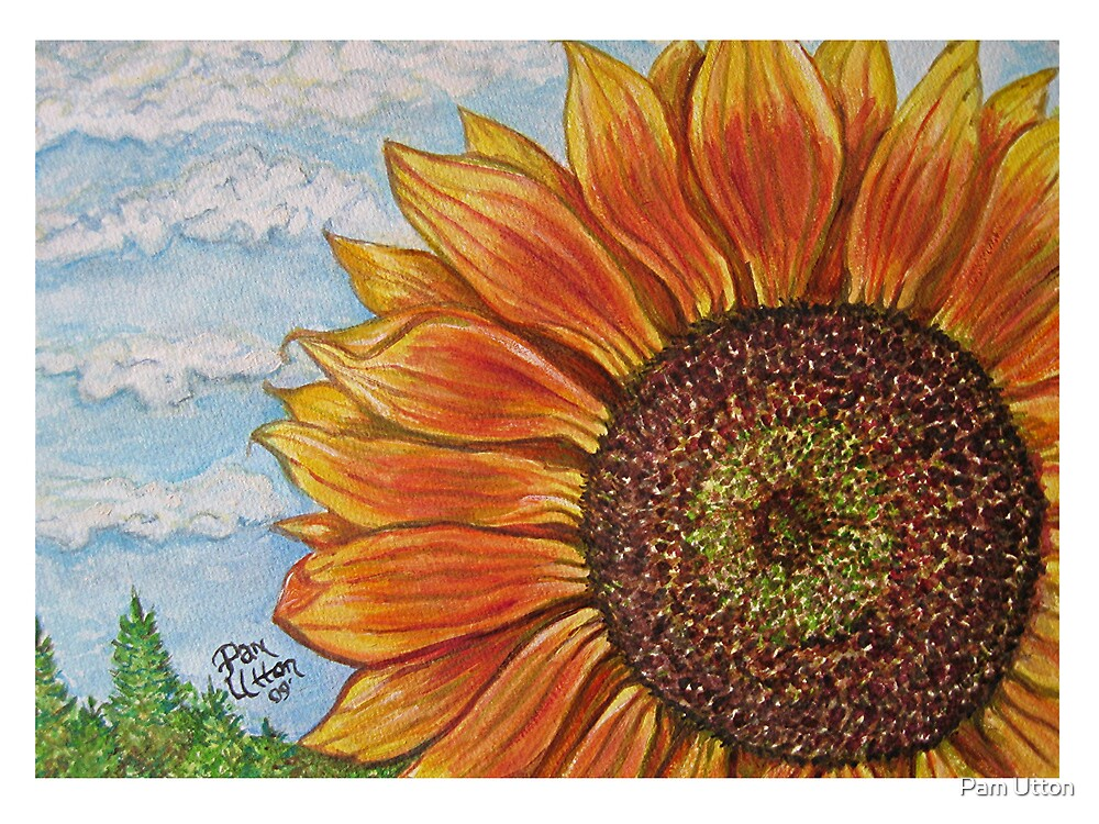 Sunflower painting by Pam Utton