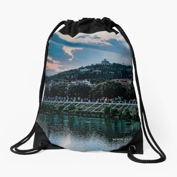 Hillside above Verona, Italy Drawstring Bag