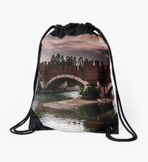 Castlevecchio Bridge, Verona, Italy Drawstring Bag