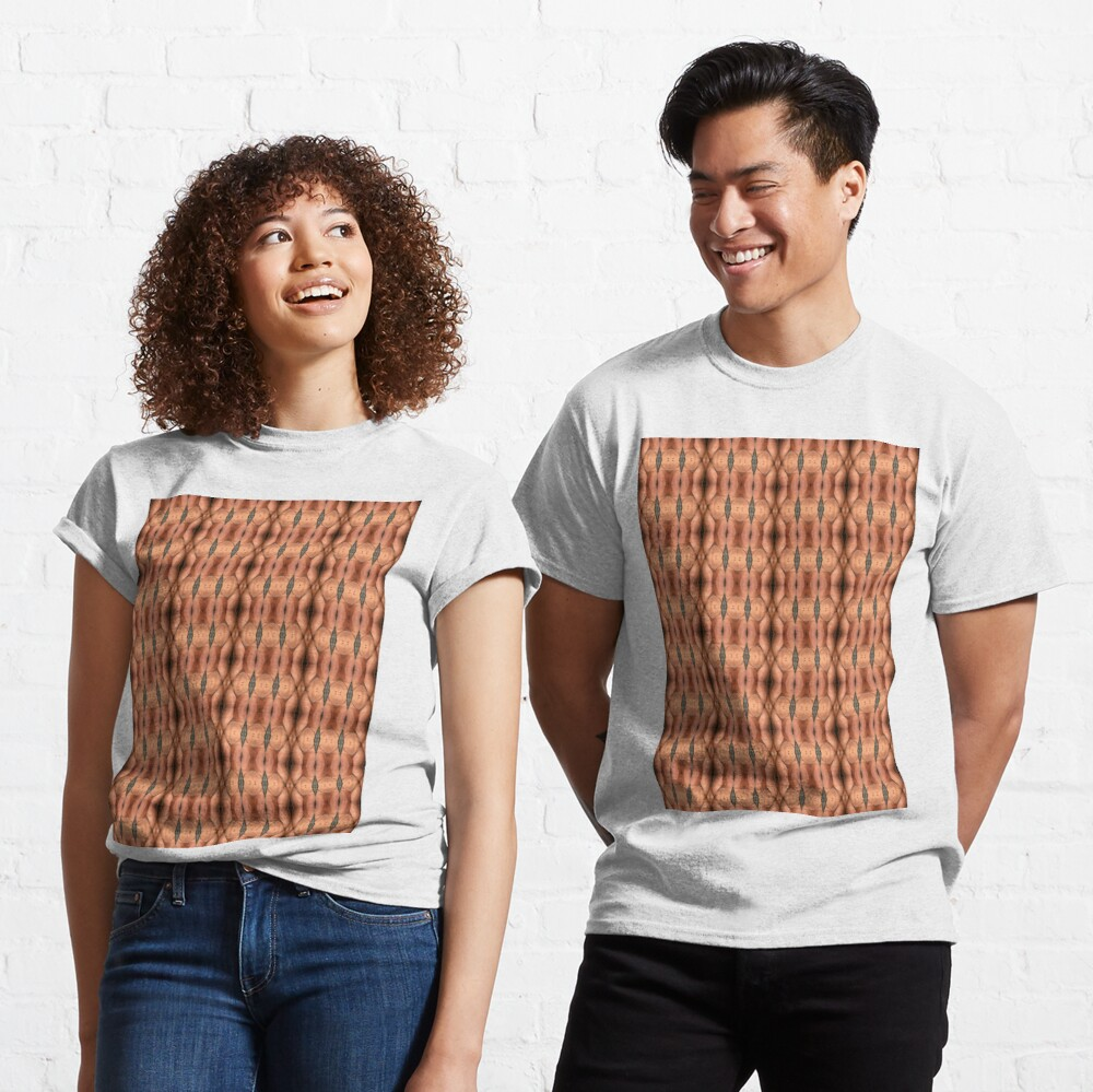 #texture #pattern #abstract #textured #brown #textile #fabric #metal #material #surface #design #backgrounds #wallpaper #woven #macro #fiber #seamless #canvas #rough #detail #structure #closeup Classic T-Shirt
