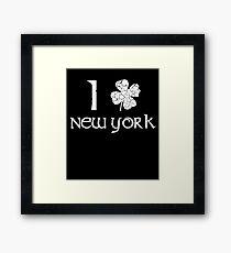 St. Patrick's Day City Pride - NEW YORK Framed Print