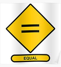 Math Sign Equal Poster