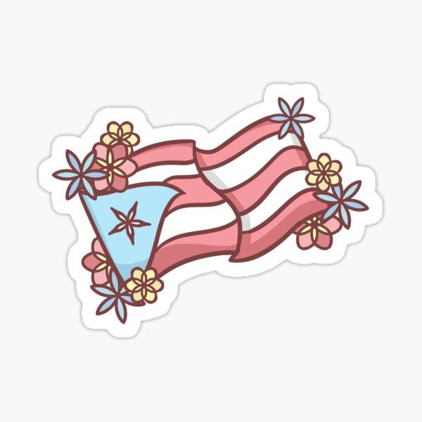 Bandera Puertorriqueña Pegatina