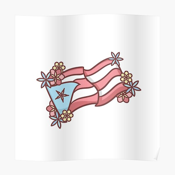 Drapeau Puertorrican Poster