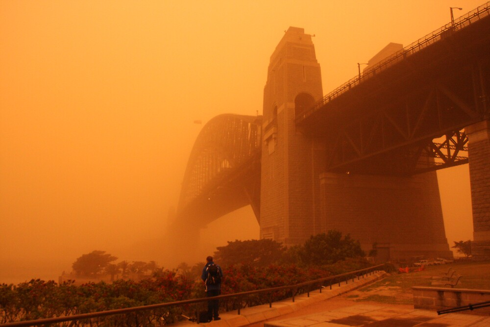 Red Dust Storm - Bridge by Mal Wood