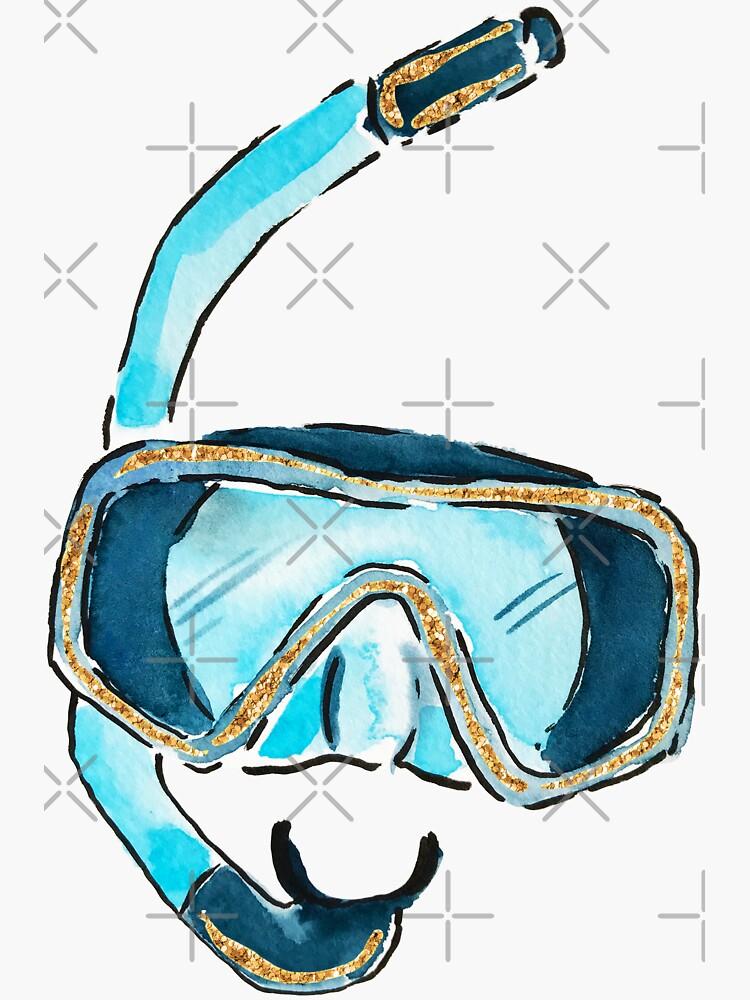 Máscara acuarela Snorkel de JillLouise