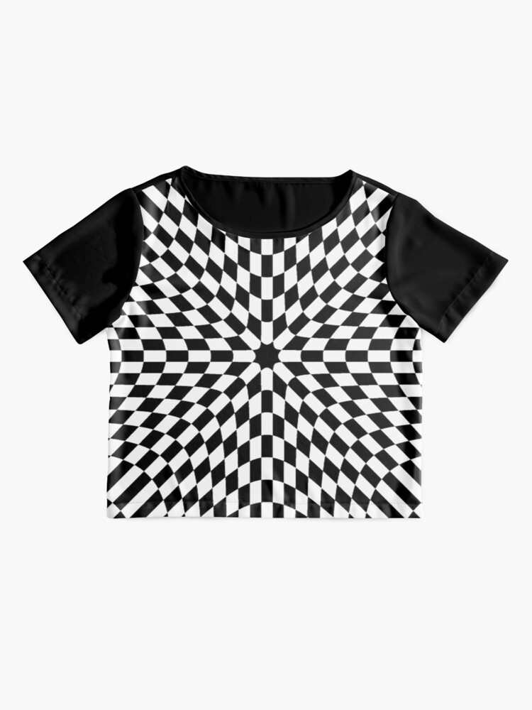 Alternate view of #black #white #checkered #chess #pattern #abstract #flag #floor #square #checker #board #chessboard #texture #check #design #race #illustration #squares #tile #racing #game  #checked #tiles #geometric Chiffon Top