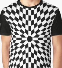 #black #white #checkered #chess #pattern #abstract #flag #floor #square #checker #board #chessboard #texture #check #design #race #illustration #squares #tile #racing #game  #checked #tiles #geometric Graphic T-Shirt